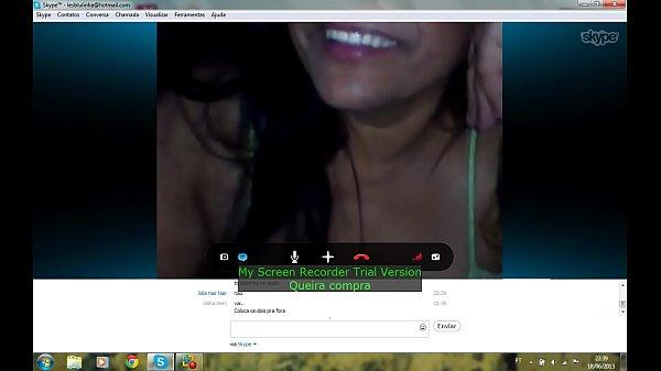 Caiu no skype video amador de coroa peituda na cam