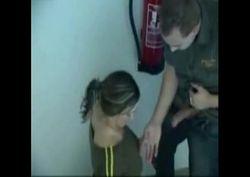 Casal safado fazendo putaria na garagem do condomínio